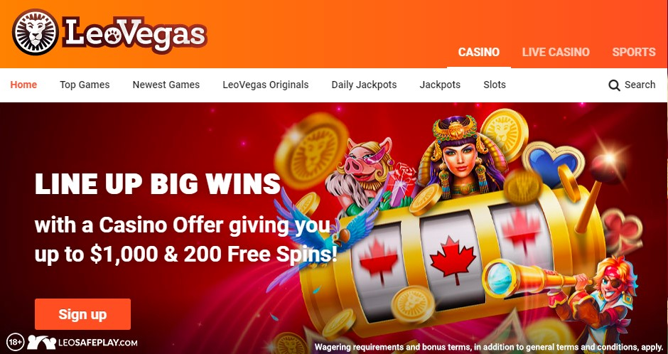 $1000 + 200 Free Spins
